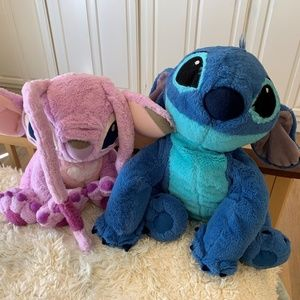 Stitch and Angel Plushes from Disney